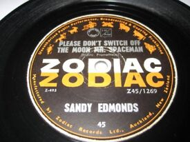 Rare Sandy Edmonds Please Dont Switch Of The Moon Mr. Spaceman. 1966 7 Inch Single.