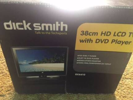 38 cm LCD TV with DVD Player and Remote BOXED