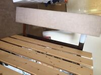 Double bed Handmade wooden