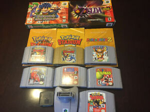 6 N64 VIDEO GAMES, MARIO PARTY 2, ZELDA, POKEMON SNAP +
