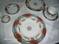 "Porcelain Royale Pitcairn England Dishes ""Aquilla"" Circa 1850's"