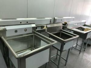 Sinks, new and used, stainless steel for restaurant, bakery, hand sinks, etc,large selection atcompetitive pricing