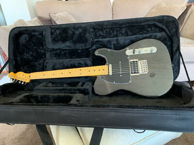 Fender Modern Player Electric Guitar Telecaster Plus Charcoal Transparent & Case