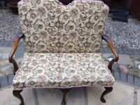 Upholstery Hall Seat