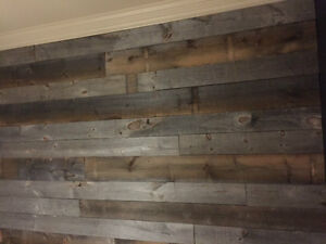 planche de pin blanc vieillie