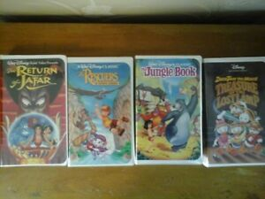 4 Disney Vintage VHS Tapes