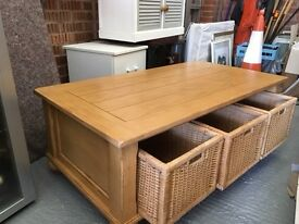 2 Coffee Tables including nice storage with both