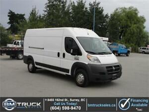 2014 RAM PROMASTER 2500 HIGH ROOF CARGO 3/4 TON ONLY 82,000KM