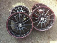 2 sets of 17 inch alloys