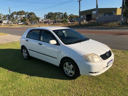 2004 Toyota Corolla ZZE122R Ascent Seca White 4 Speed Automatic Hatchback