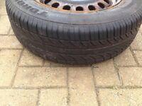 W124 estate and saloon steel wheels