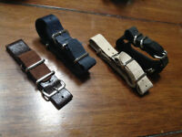Watch Bands - 20mm Leather NATO