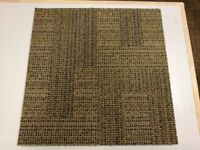 USED HAND SORTED 45.8 cm's SQUARE (18x18Inch) MILLIKEN CARPET TILES WITH A SPONGY BACKING FOR £0.50