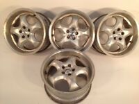 "RIAL 5x100 17"" 8J alloy wheels, deep dish, made in Germany, not borbet, ats, azev, bbs, tm"