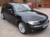 2009 09 BMW 118 2.0TD d M Sport Gleaming Black Coachwork
