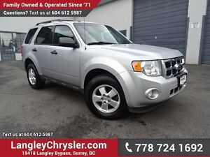 2012 Ford Escape XLT W/ 4X4, POWER WINDOWS/LOCKS & BLUETOOTH