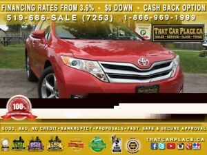 2013 Toyota Venza Leather-Sunroof-Backup-LOW KM! Clean CarProof