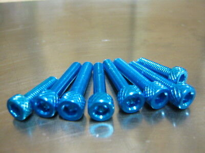 FUEL CAP BOLT KIT FOR <em>YAMAHA</em> MT 07 700 2013 ONWARDS BLUE ANODISED AL