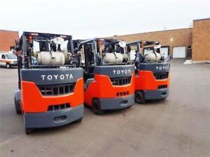 Toyota 8FGC45U 2015 Propane Forklift 9000 Lbs