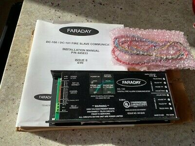 New Faraday Dc-100 Fire Slave Communicator Dialer-dact 1 Yr. Prot. Plan Incl