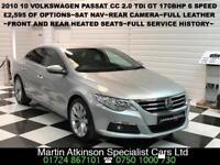 2010 10 Volkswagen Passat CC GT 2.0 TDi 170 6 Speed Manual~£2,595 OF Options~