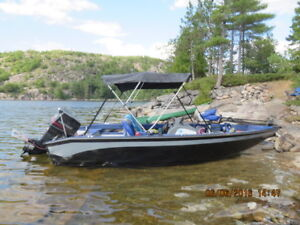 16 foot Princecraft fishing boat with 50HP Johnson
