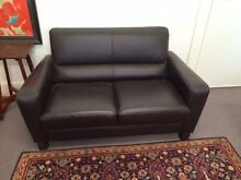 Brown Leather 2x 2 seater setttees Brunswick Moreland Area Preview