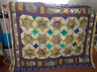 Quilt / bedspread, Home Made, Star Flowers