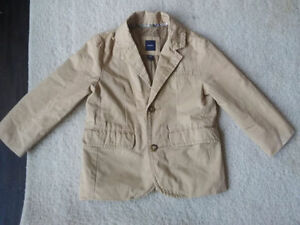 Baby GAP Boys Beige Cotton Blazer Size Toddler 4