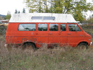 1974 DODGE SPORTSMAN VAN.....selling as a parts vehicle