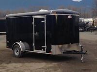 Cargomate Blazer 6 x 12 enclosed cargo trailer with rear ramp