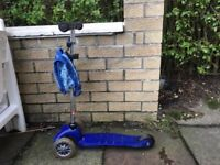Micro Scooter, 3 - 5 years, Blue