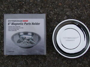 "NEW IN THE BOX 6""MAGNETIC STAINLESS STEEL PARTS HOLDER"