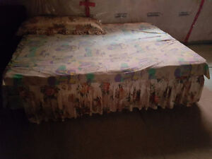 Queen size mattress comes with box spring and stand