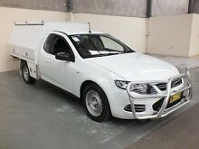 2013 Ford Falcon FG MK2 FG MKII SUPER CAB White 6 Speed Auto Seq Sportshift Cab Chassis Gateshead Lake Macquarie Area Preview