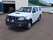 2014 Toyota Hilux KUN26R MY14 SR (4x4) White 5 Speed Manual Dual Cab Pick-up Berrimah Darwin City Preview