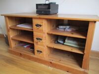 Solid pine TV, DVD, CD unit