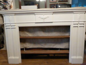 White pine mantel/bookshelf