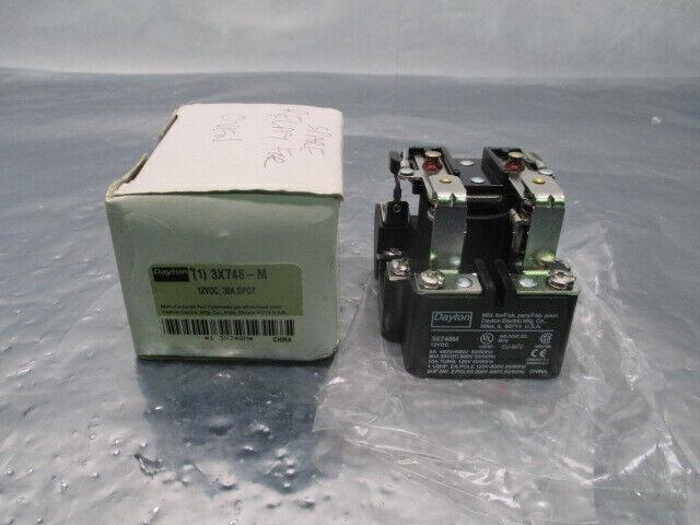 Dayton 3X748-M Power Relay, 12VDC, 30A, DPDT, 100606