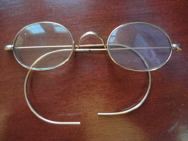 EyeGlasses 10*WO Co 12 Gold Spectacles Oval Frames Vintage
