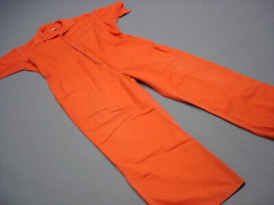 Prison Inmate Jail Prisoner Costume Convict Orange Jumpsuit 2XL - Prison Convict Costume