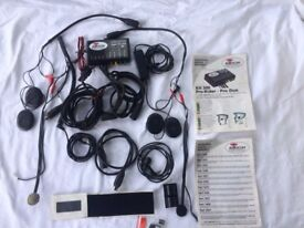 Motorcycle radio system 'Autocom' In-helmet for rider and pillion passenger.