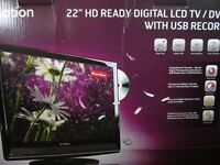 """22"""" HD e-motion TV Freeview with USB Recoreder"""