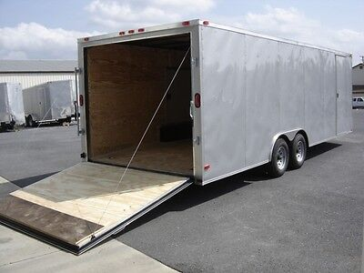8.5x18 8.5 X 18 Enclosed Trailer Cargo V-nose 20 Car Hauler Box 7 Atv Utility