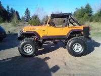 "1984 cj7 Chevy power 350 auto Dana 44 boxed frame 38.5"" $7500.00"