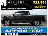 2010 DODGE RAM SPORT CREW *EVERYONE APPROVED* $0 DOWN $169/BW!