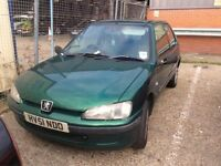 2001 PEUGEOT 106 3 DOOR HATCHBACK GREEN PETROL MANUAL NON RUNNER NOT 206 CORSA FIESTA POLO CLIO KA