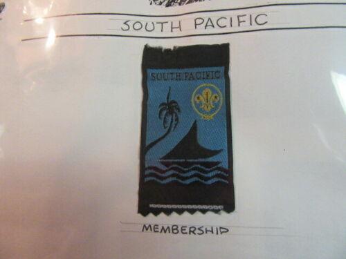 South Pacific Boy Scout Patch     c27