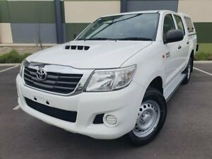 2014 Toyota Hilux KUN26R MY14 SR Double Cab White 5 Speed Automatic Utility Blair Athol Port Adelaide Area Preview