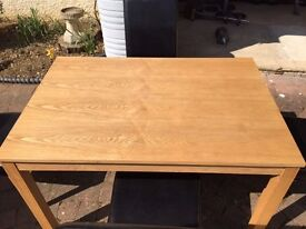 Oak effect Table and Four Chairs